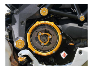 Ducabike clutch cover oil bath