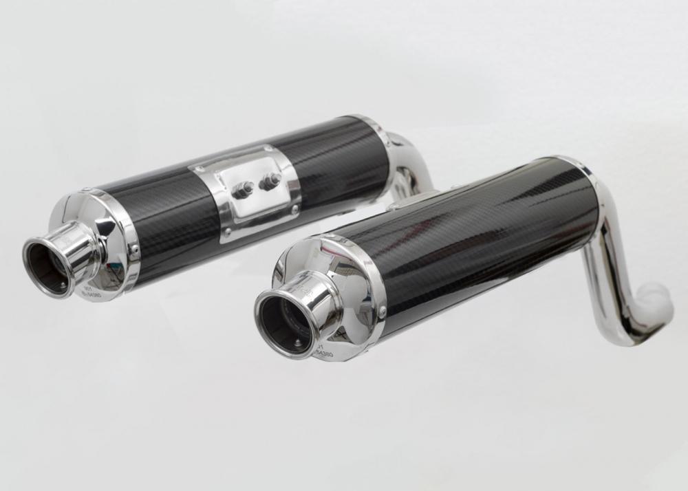 Spark Schalldämpfer-Paar hoch Monster 600 - S4
