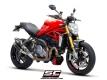 SC-Project Schallämpfer Twin-GP mit Kat. Ducati Monster 1200 S/R